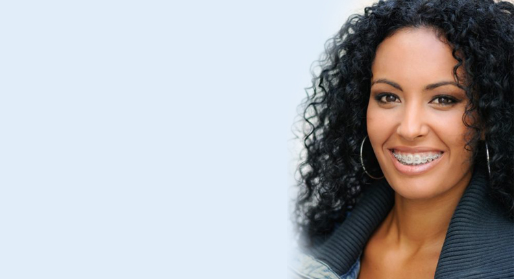 woman with braces image